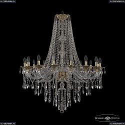 16115/16/360/H-120 G Хрустальная подвесная люстра с металлической чашкой Bohemia Ivele Crystal (Богемия), 1615
