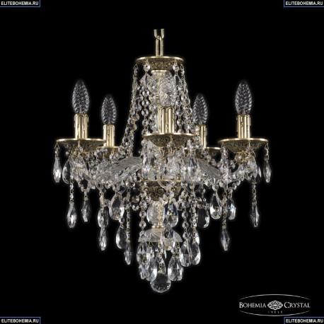 16115/5/141 GB Хрустальная подвесная люстра с металлической чашкой Bohemia Ivele Crystal (Богемия), 1615