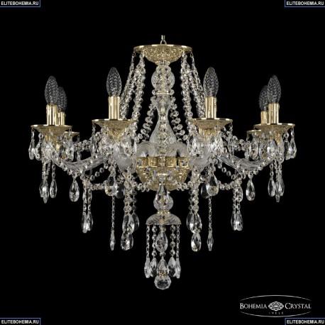 16115/8/240 G Хрустальная подвесная люстра с металлической чашкой Bohemia Ivele Crystal (Богемия), 1615