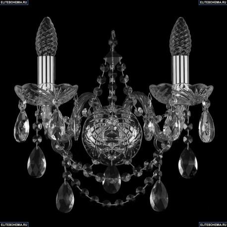 1411/2/Ni Bohemia Ivele Crystal, Чешская Бра с хрустальным рожком