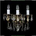 1702B/2+1/175/B/GB Бра с элементами художественного литья и хрусталем Bohemia Ivele Crystal
