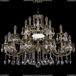 1722/10+5+5/335/A/GB Большая хрустальная подвесная люстра Bohemia Ivele Crystal (Богемия)