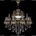 1722/10+5+5/335/B/GB Большая хрустальная подвесная люстра Bohemia Ivele Crystal (Богемия)
