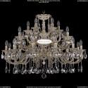 1722/12+6+6/335/A/GW Большая хрустальная подвесная люстра Bohemia Ivele Crystal (Богемия)