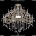 1722/12+6+6/335/B/GW Большая хрустальная подвесная люстра Bohemia Ivele Crystal (Богемия)