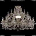 1722/12+6+6/335/C/GW Большая хрустальная подвесная люстра Bohemia Ivele Crystal (Богемия)