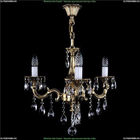1701/3/B/GB Bohemia Ivele Crystal, Чешская Подвесная люстра с литым рожком