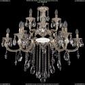1722/6+3+3/335/B/GW Большая хрустальная подвесная люстра Bohemia Ivele Crystal (Богемия)