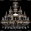 1732/12+6+3/300/A/GB Большая хрустальная подвесная люстра Bohemia Ivele Crystal