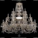 1732/12+6+3/335/C/GW Большая хрустальная подвесная люстра Bohemia Ivele Crystal