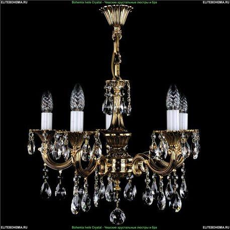 1701/5/A/GB Bohemia Ivele Crystal, Чешская Подвесная люстра с литым рожком