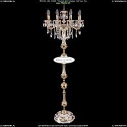 1702T1/8/CK175IV-160/B/GW Торшер с элементами художественного литья и хрусталем Bohemia Ivele Crystal