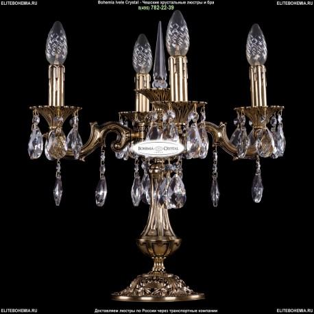 1702L/4/125-51/A/GB Настольная лампа с элементами художественного литья и хрусталем Bohemia Ivele Crystal
