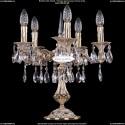 1702L/5/125-51/A/GW Настольная лампа с элементами художественного литья и хрусталем Bohemia Ivele Crystal