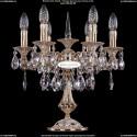 1702L/6/125-51/A/GW Настольная лампа с элементами художественного литья и хрусталем Bohemia Ivele Crystal
