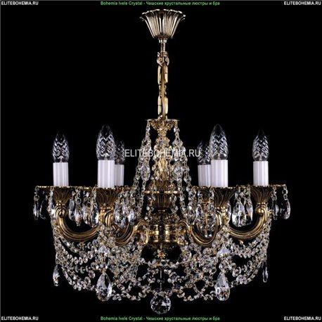 1701/6/C/GB Bohemia Ivele Crystal, Чешская Подвесная люстра с литым рожком
