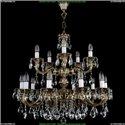 1702/10+5/A/GB Хрустальная подвесная люстра Bohemia Ivele Crystal (Богемия)