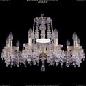 1410/10/240/G/V0300 Хрустальная подвесная люстра Bohemia Ivele Crystal (Богемия)