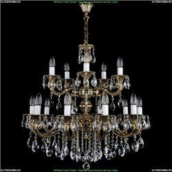 1702/10+5/B/GB Хрустальная подвесная люстра Bohemia Ivele Crystal