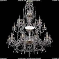 1411/20/360-115/G Хрустальная большая люстра Bohemia Ivele Crystal