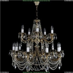 1702/10+5/C/GB Хрустальная подвесная люстра Bohemia Ivele Crystal
