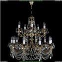 1702/10+5/C/GB Хрустальная подвесная люстра Bohemia Ivele Crystal (Богемия)