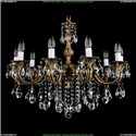 1702/10/B/FP Хрустальная подвесная люстра Bohemia Ivele Crystal (Богемия)