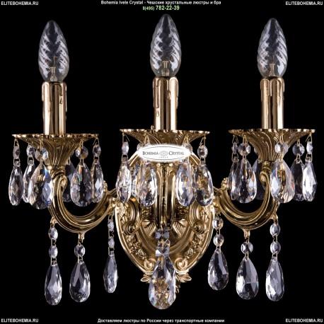 1702B/2+1/175/A/G Хрустальное бра Bohemia Ivele Crystal