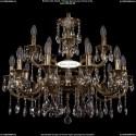 1702/10+5/265+181/A/GB Хрустальная подвесная люстра Bohemia Ivele Crystal