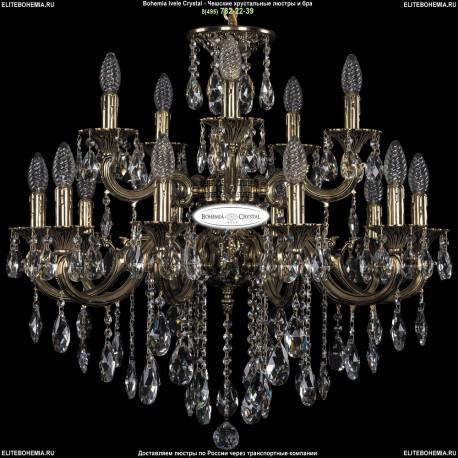 1702/10+5/265+181/B/GB Хрустальная подвесная люстра Bohemia Ivele Crystal