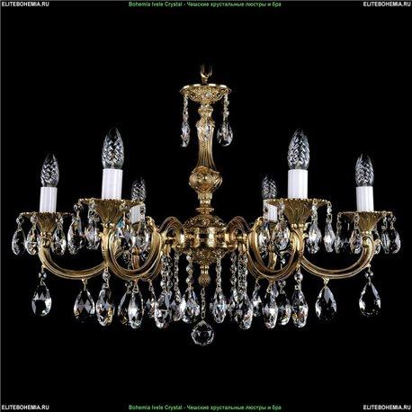 1702/6/A Bohemia Ivele Crystal, Чешская Подвесная люстра с литым рожком