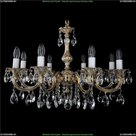 1702/8/A/GW Bohemia Ivele Crystal, Чешская Подвесная люстра с литым рожком