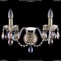1402B/2/195/XL/G/M701 Хрустальное бра Bohemia Ivele Crystal