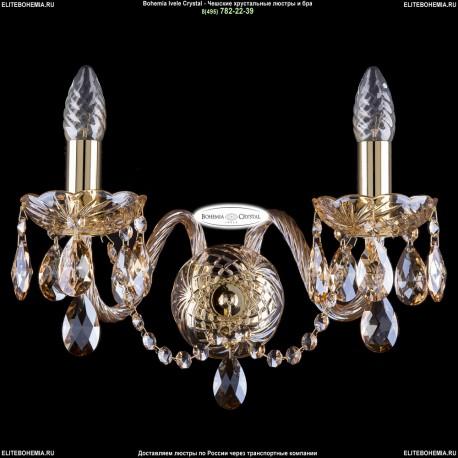 1402B/2/195/XL/G/M721 Хрустальное бра Bohemia Ivele Crystal