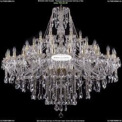 1415/24+12+6/530-135/G Большая хрустальная люстра Bohemia Ivele Crystal