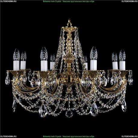 1702/8/C Bohemia Ivele Crystal, Чешская Подвесная люстра с литым рожком