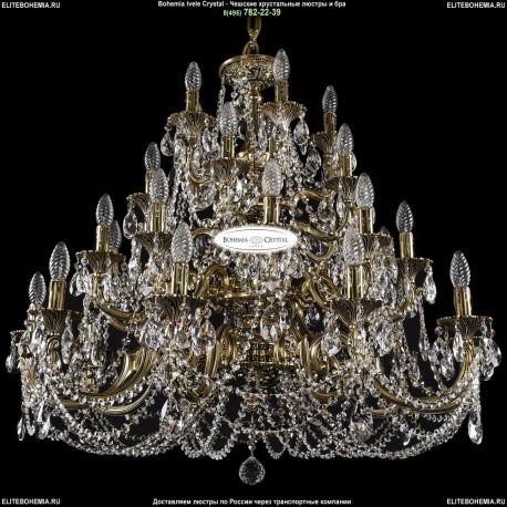 1742/10+10+5+5/300/C/GB Большая хрустальная люстра Bohemia Ivele Crystal