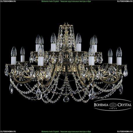 1703/16/C/GB Bohemia Ivele Crystal, Чешская Подвесная люстра с литым рожком