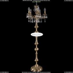 1702T1/5/CK125IV-134/A/FP Торшер с элементами художественного литья и хрусталем Bohemia Ivele Crystal