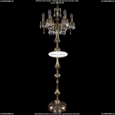 1702T1/6/CK125IV-134/A/GB Торшер с элементами художественного литья и хрусталем Bohemia Ivele Crystal