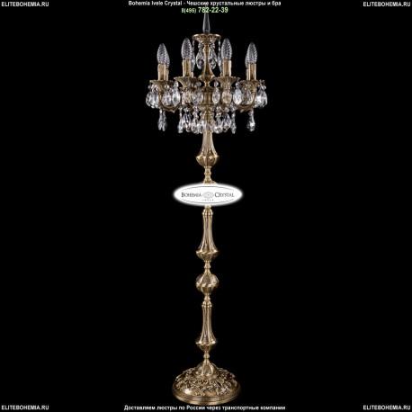 1702T1/8/CK125IV-134/A/FP Торшер с элементами художественного литья и хрусталем Bohemia Ivele Crystal