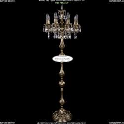1702T1/8/CK125IV-134/A/GB Торшер с элементами художественного литья и хрусталем Bohemia Ivele Crystal