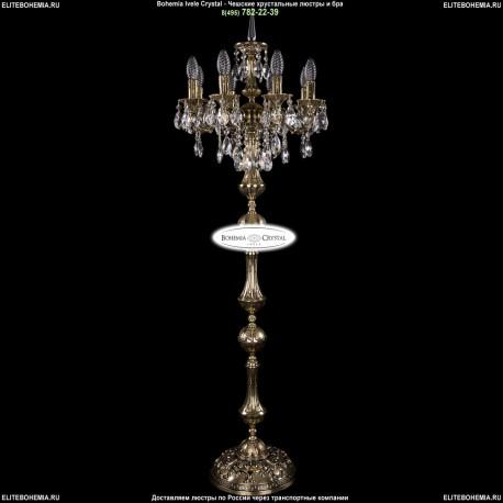 1702T1/8/CK125IV-134/B/GB Торшер с элементами художественного литья и хрусталем Bohemia Ivele Crystal