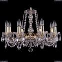 1214/8/200/G Хрустальная подвесная люстра Bohemia Ivele Crystal