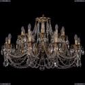 1702/10+10/300+150/C/FP Большая хрустальная подвесная люстра Bohemia Ivele Crystal