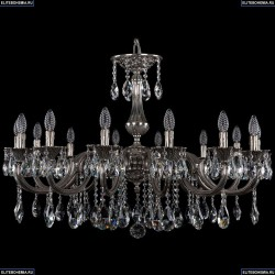 1702/14/300/A/NB Большая хрустальная подвесная люстра Bohemia Ivele Crystal