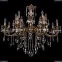 1702/8+8/300+150/B/GB Большая хрустальная подвесная люстра Bohemia Ivele Crystal