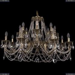 1702/8+8/300+150/C/GB Большая хрустальная подвесная люстра Bohemia Ivele Crystal