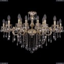 1703/18/225+125/B/GW Хрустальная подвесная люстра Bohemia Ivele Crystal