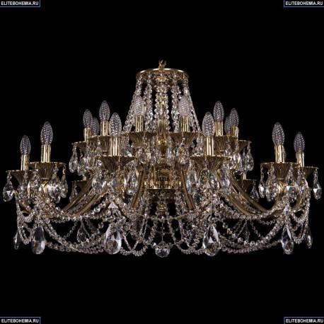 1703/24/360/C/GW Большая хрустальная подвесная люстра Bohemia Ivele Crystal